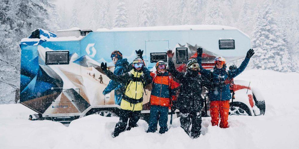 Die Snowmads Crew in ihrem Element
