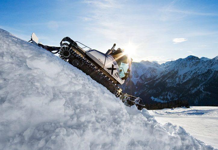 mächtig PS unter der Haube sogen für Schneebewegungen