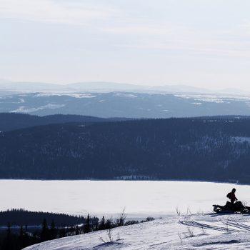 Schneemobil in Schweden