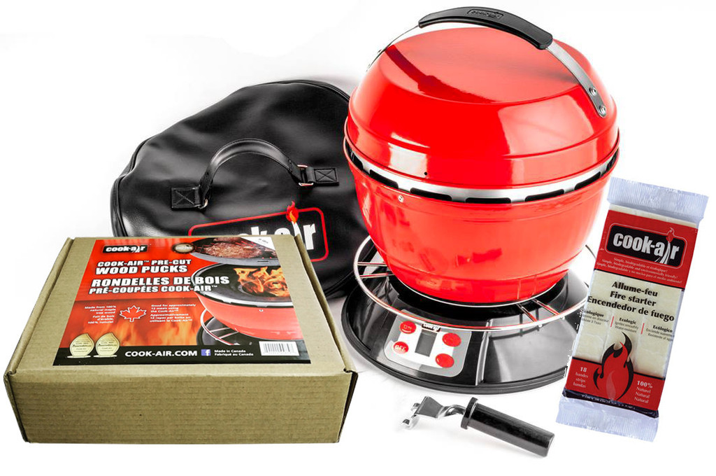 Das Starter Kit des tragbaren Grils Cook-Air.