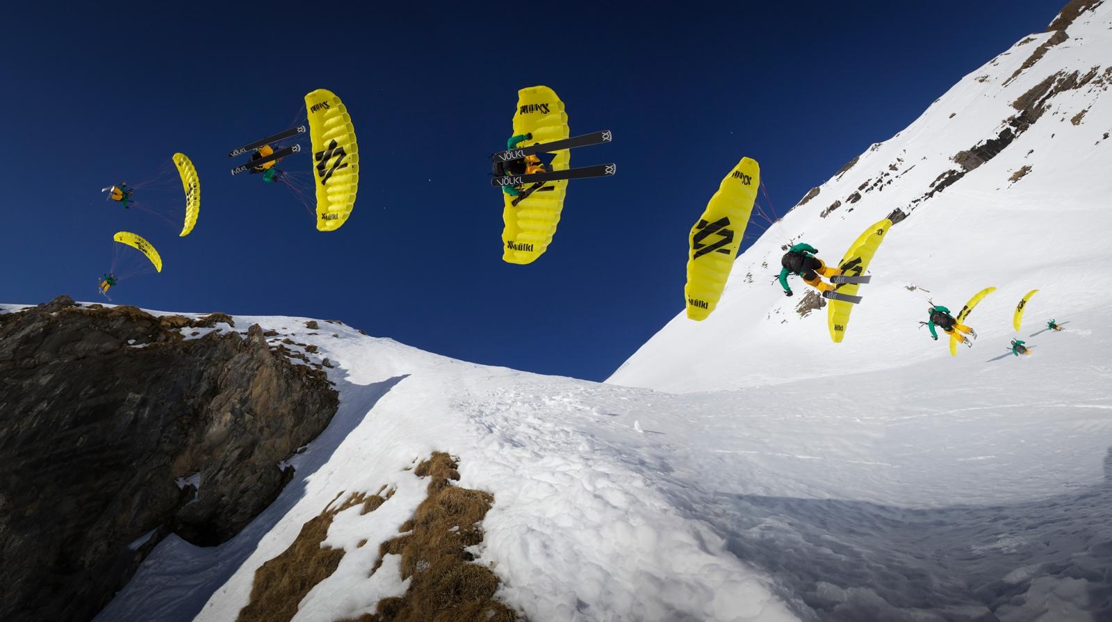 Das Spiel zwischen Freeriden und Fliegen ist das interessantese am Fpeedflying... ©Marc Weiler