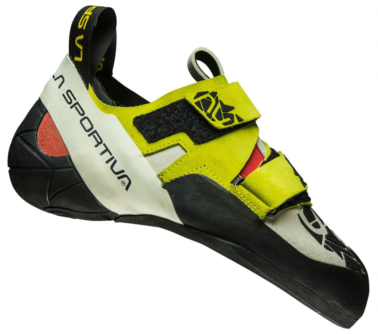 La Sportiva_Otaki: Kletterschuh für Big Wall Kletterer. Schuh mit mäßigem Downturn und Asymetrie. Als Damen und Herrenmodell erhältlich, 139 Euro. www.lasportiva.com