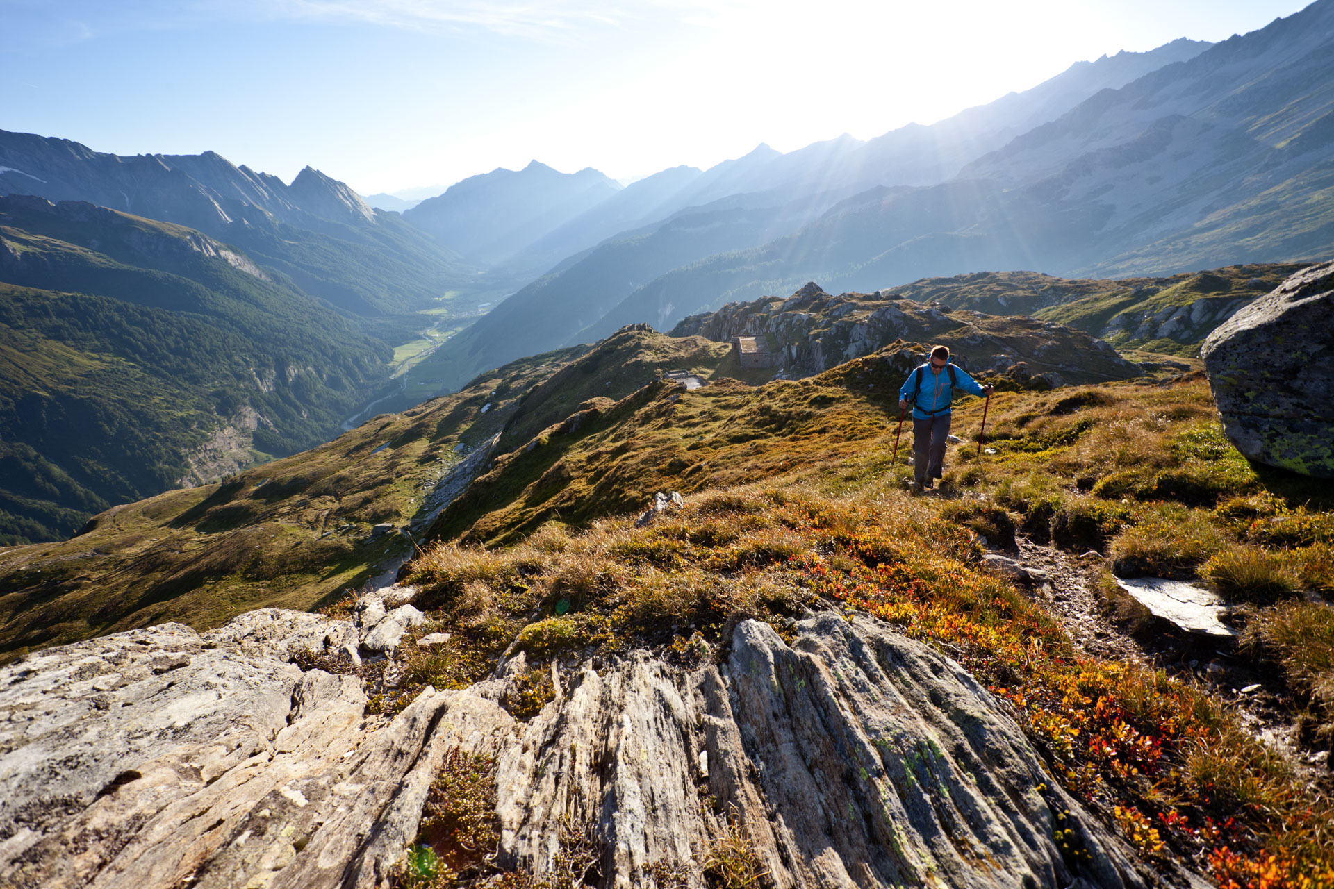 Bei Etappe Sechs geht´s über den Alpenhauptkamm