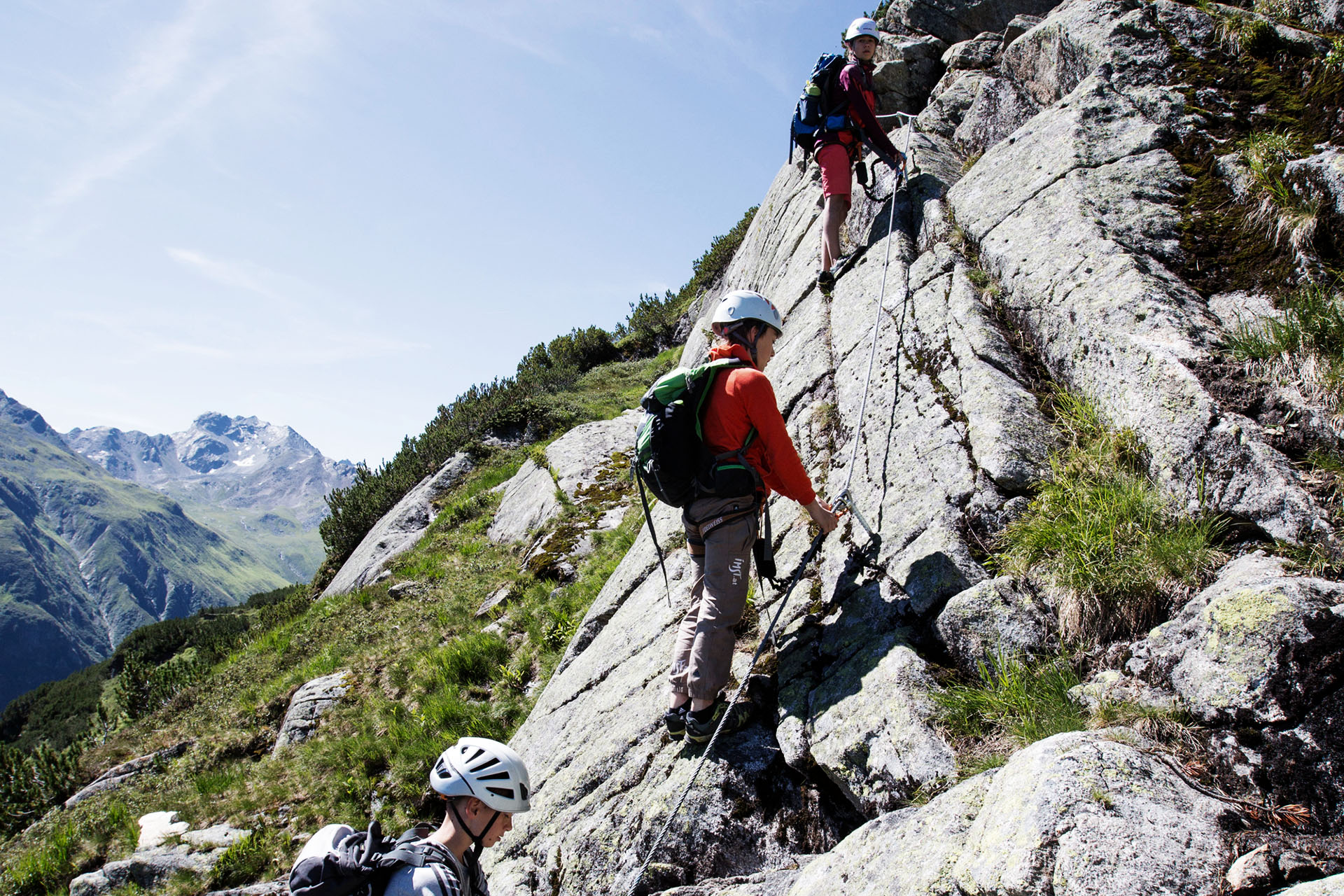 """Im """"Little Ballun"""" werden Kinder und Anfänger easy an das Thema Klettersteig herangeführt"""