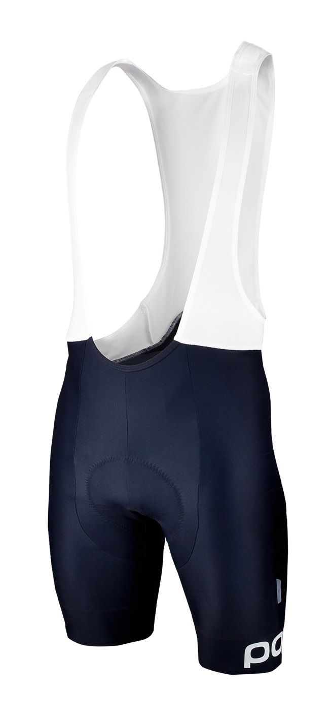 Multi D Bib Shorts in Navy Black-Hydrogen White