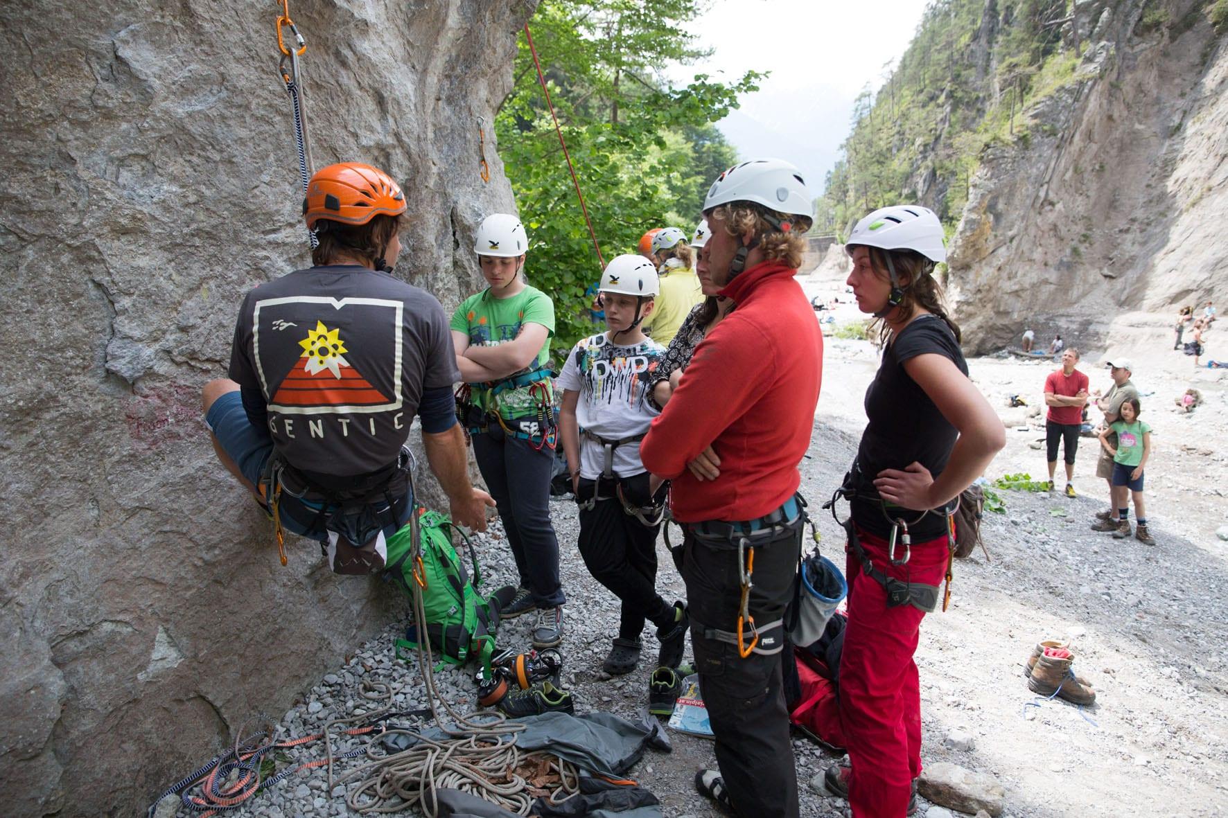 SAAC Climbing Camps sind für Fortgeschrittene und Beginner.