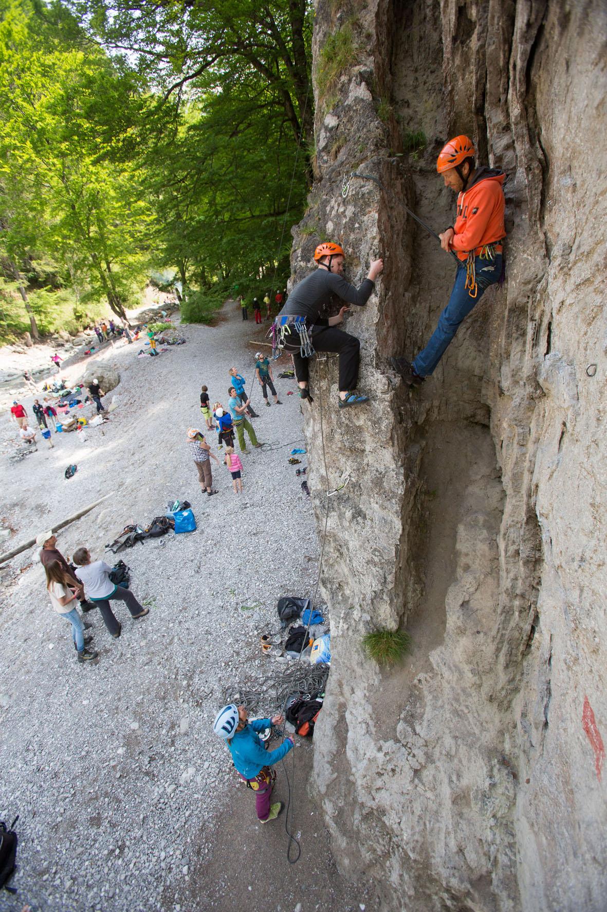 Klettern in der Natur - bei den SAAC Camps kein Problem!