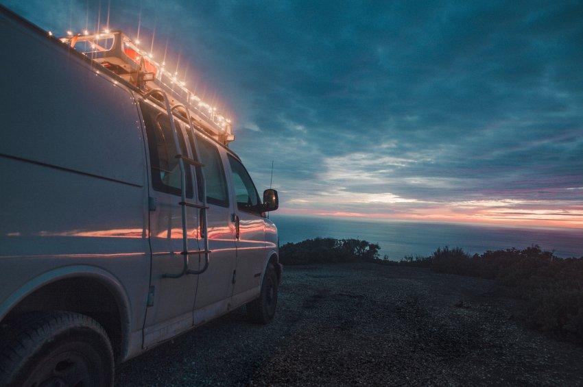 Von Küste zu Küste - das war Zach's erste große Reise in seinem Chevy Express. (Source: Zach Both)