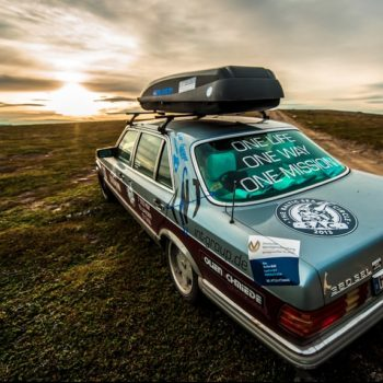 Mercedes 380 SEL – Traumwagen in Traumlandschaft.