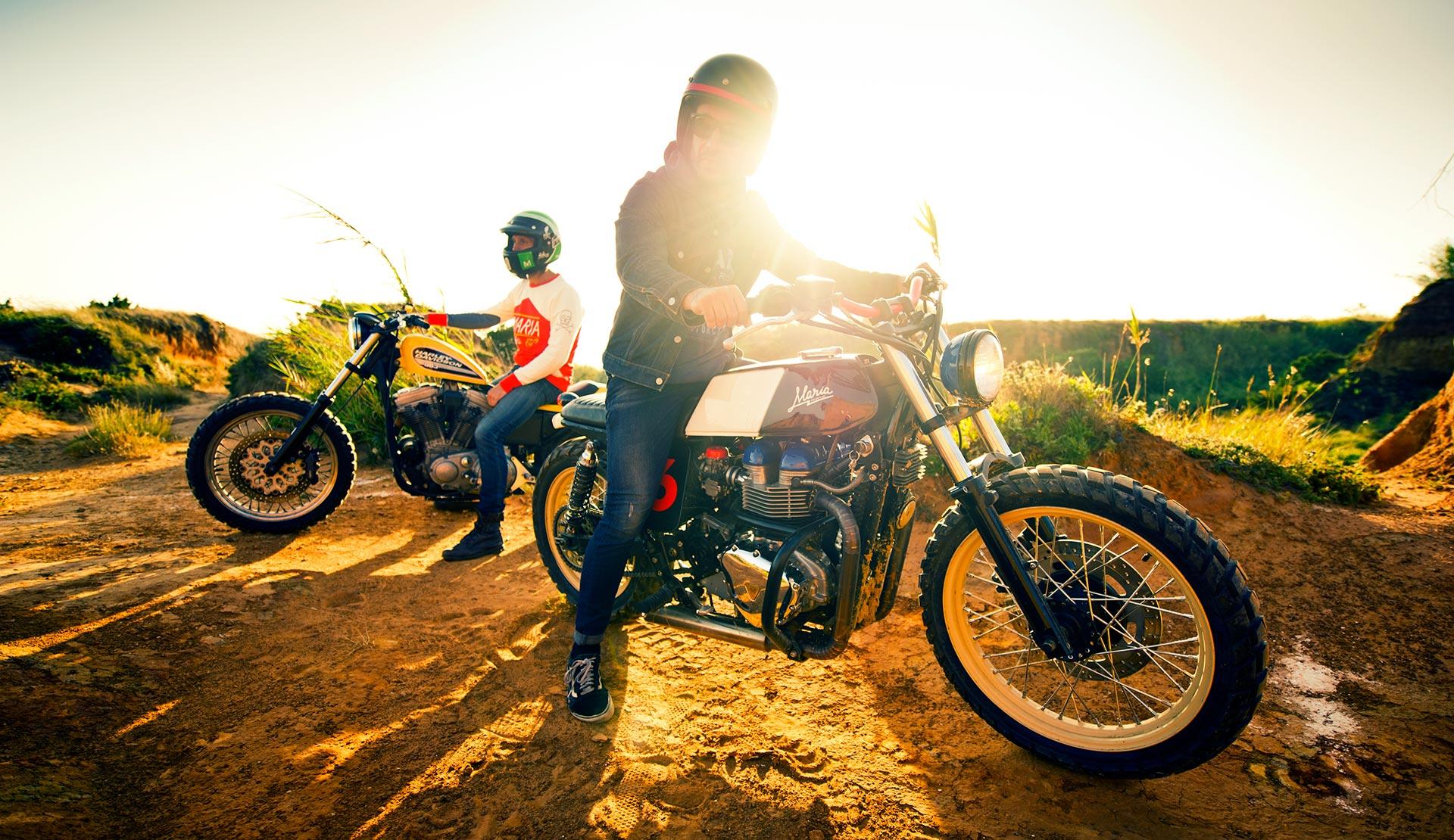 """Die portugiesischen Motorrad-Liebhaber der """"Maria Riding Company"""" © Alex Papis"""