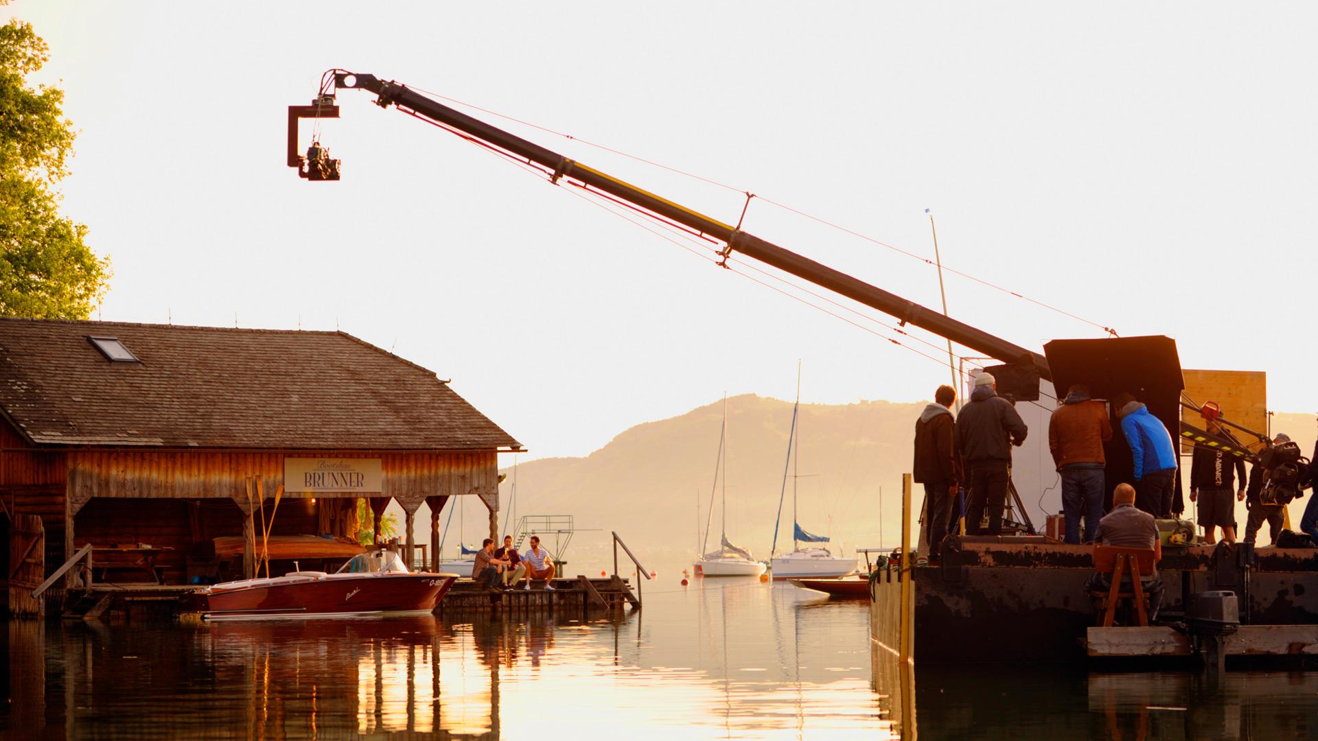 Behind-the-scenes beim Gösser-Werbedreh © Alex Papis