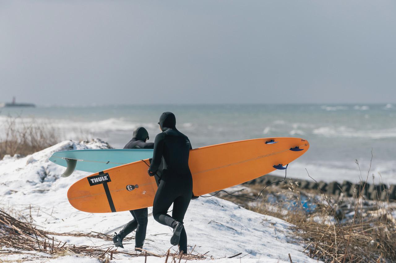 Auf dem Weg zu einer Session im 4 Grad kalten Wasser