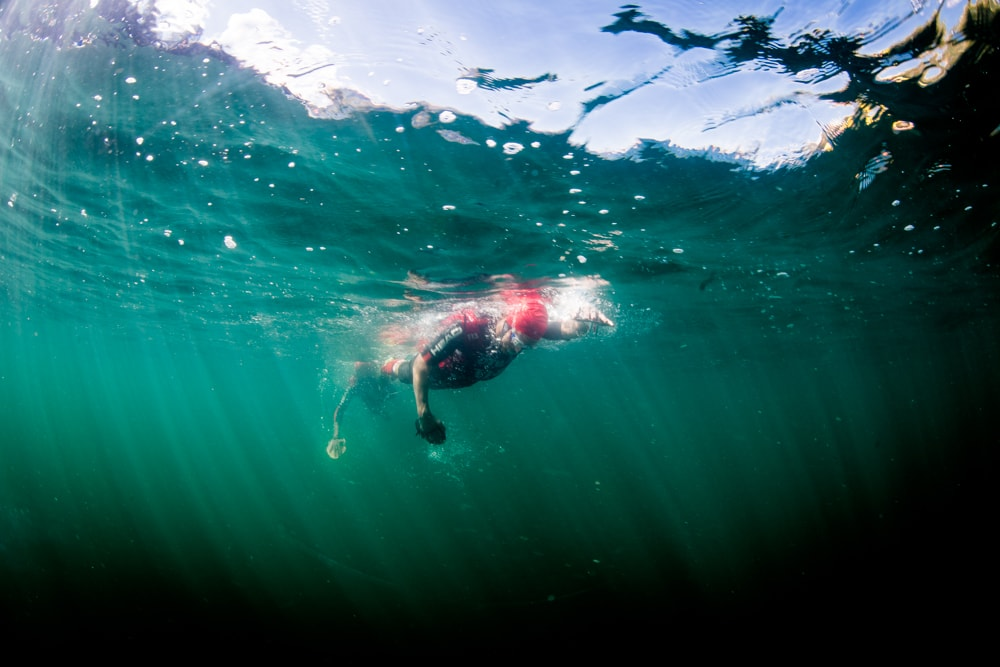 Swimrun Engadin 2016 Unterwasser