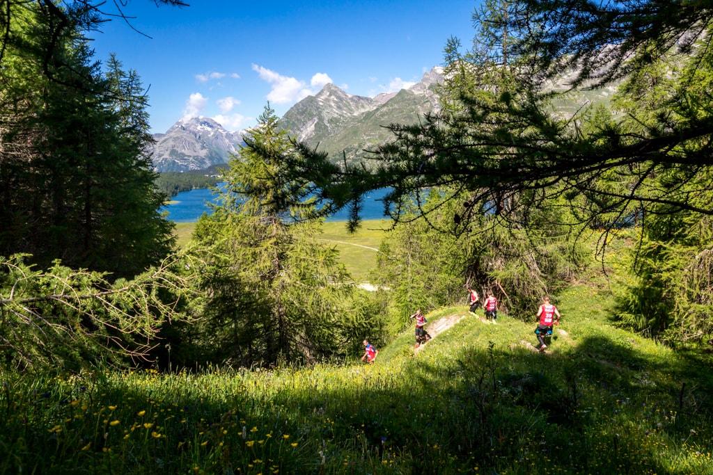 Swimrun Engadin 2016 Waldlauf