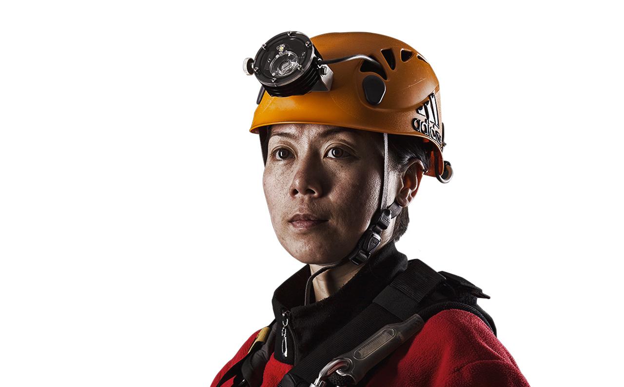Für Lu Jia und ihr Team ist keine Höhle zu dunkel oder zu tief | © adidas