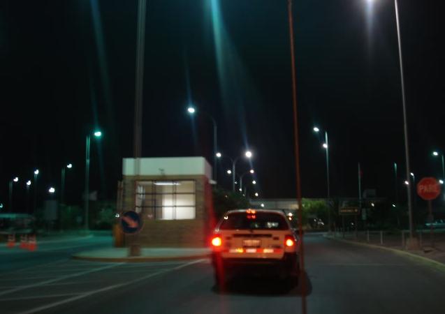 Nachts an der Grenze zu Peru