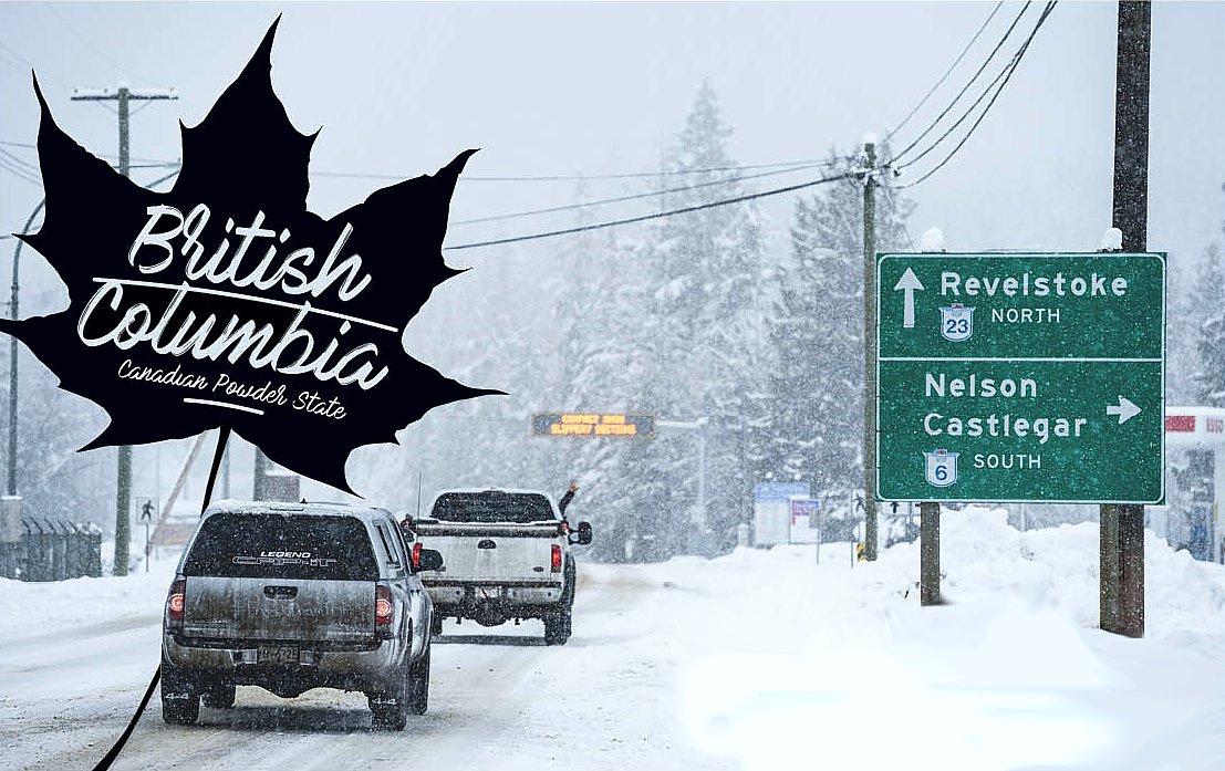 Snowboarding in British Columbia - Kanada
