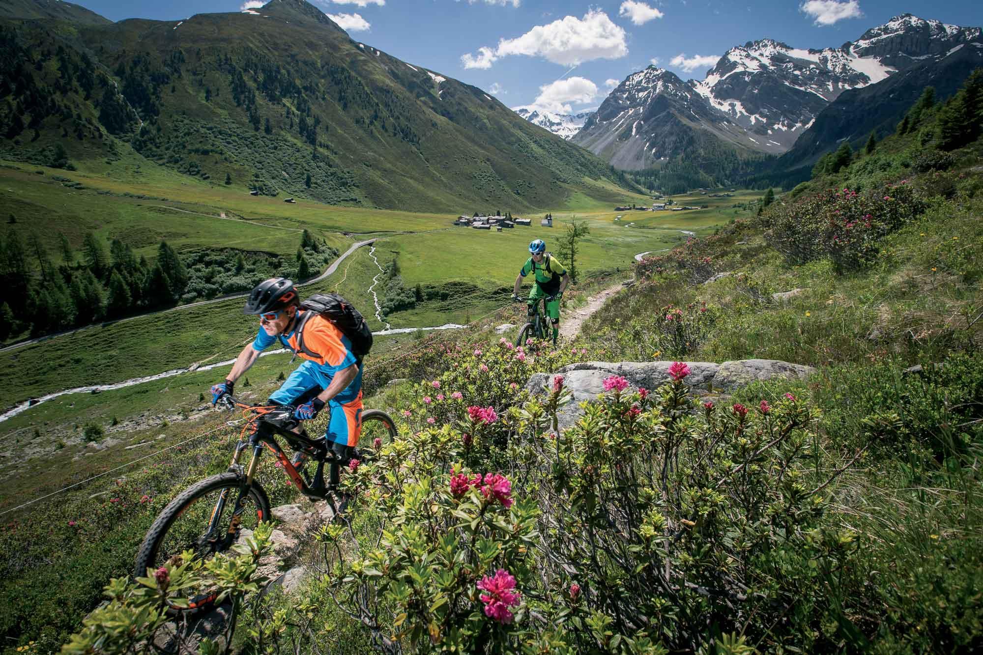 Trail in Davos / Graubünden