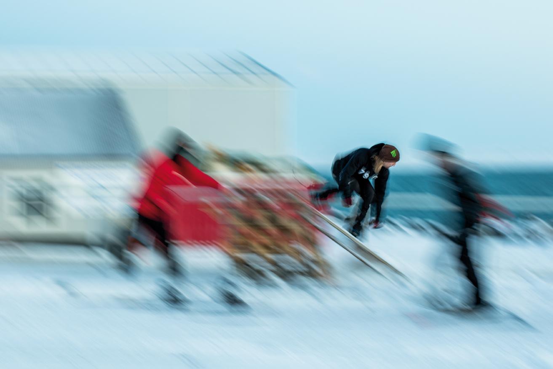 Snowboarding auf Island