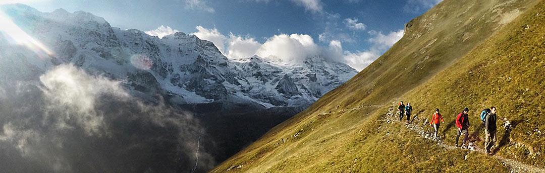 Wandern und Trailrunning mit spektakulären Ausblicken |©The North Face